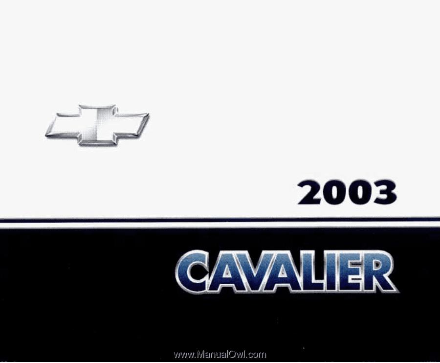 2003 Chevrolet Cavalier Owner S Manual