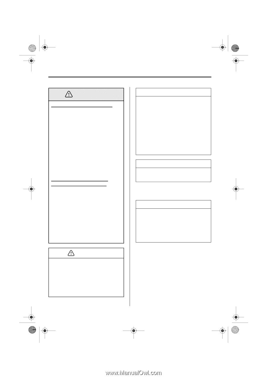 Owner & Operator Manuals MAZDA RX8 NAVIGATION SYSTEM OWNER'S ...
