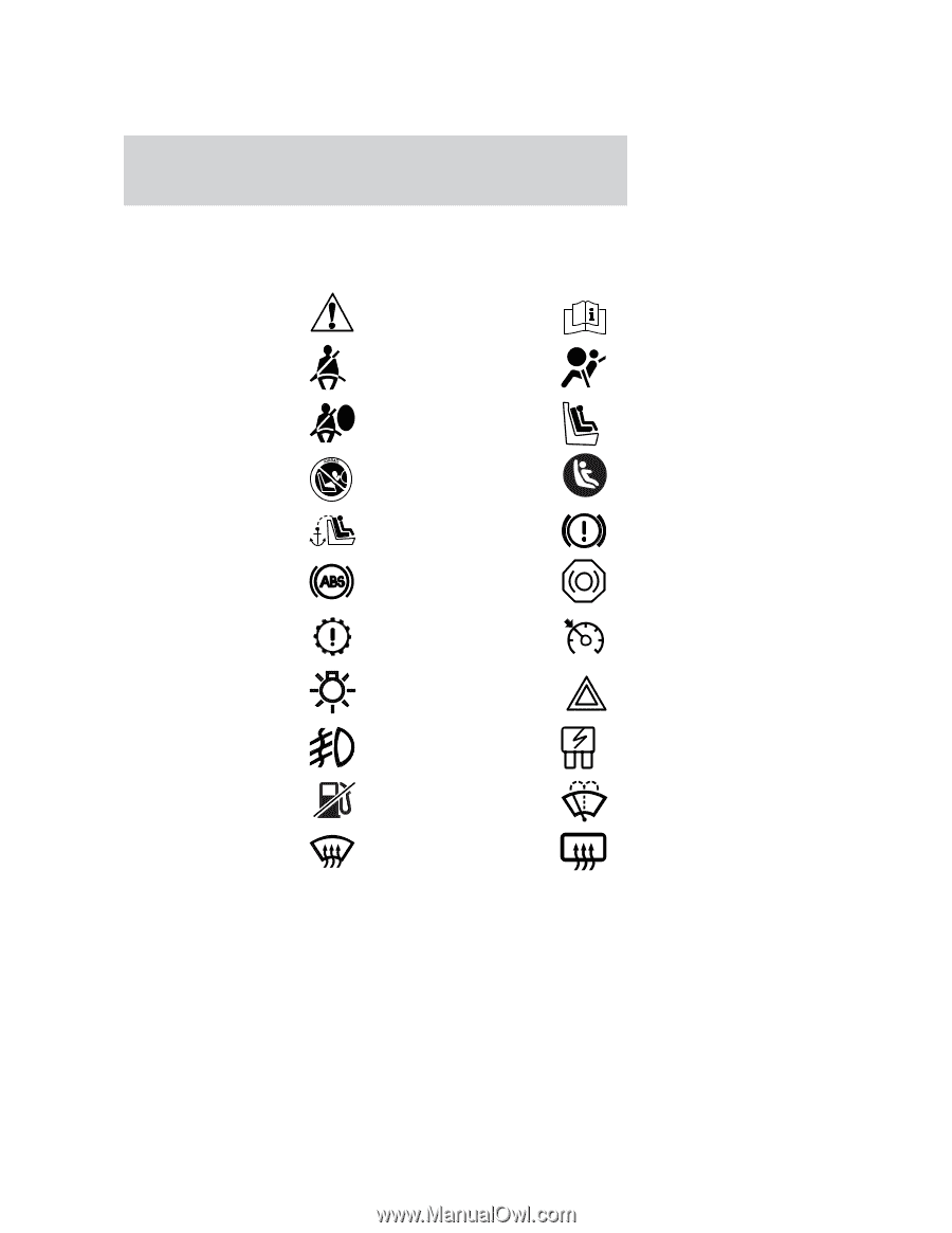 These Are Some Of The Symbols You May See On Your Vehicle