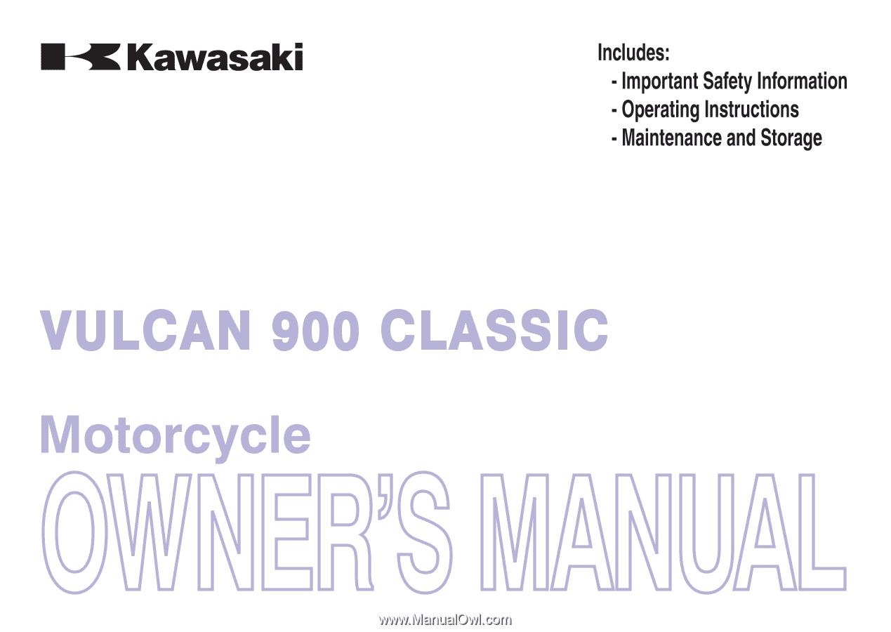 Kawasaki vn 900 manual download.