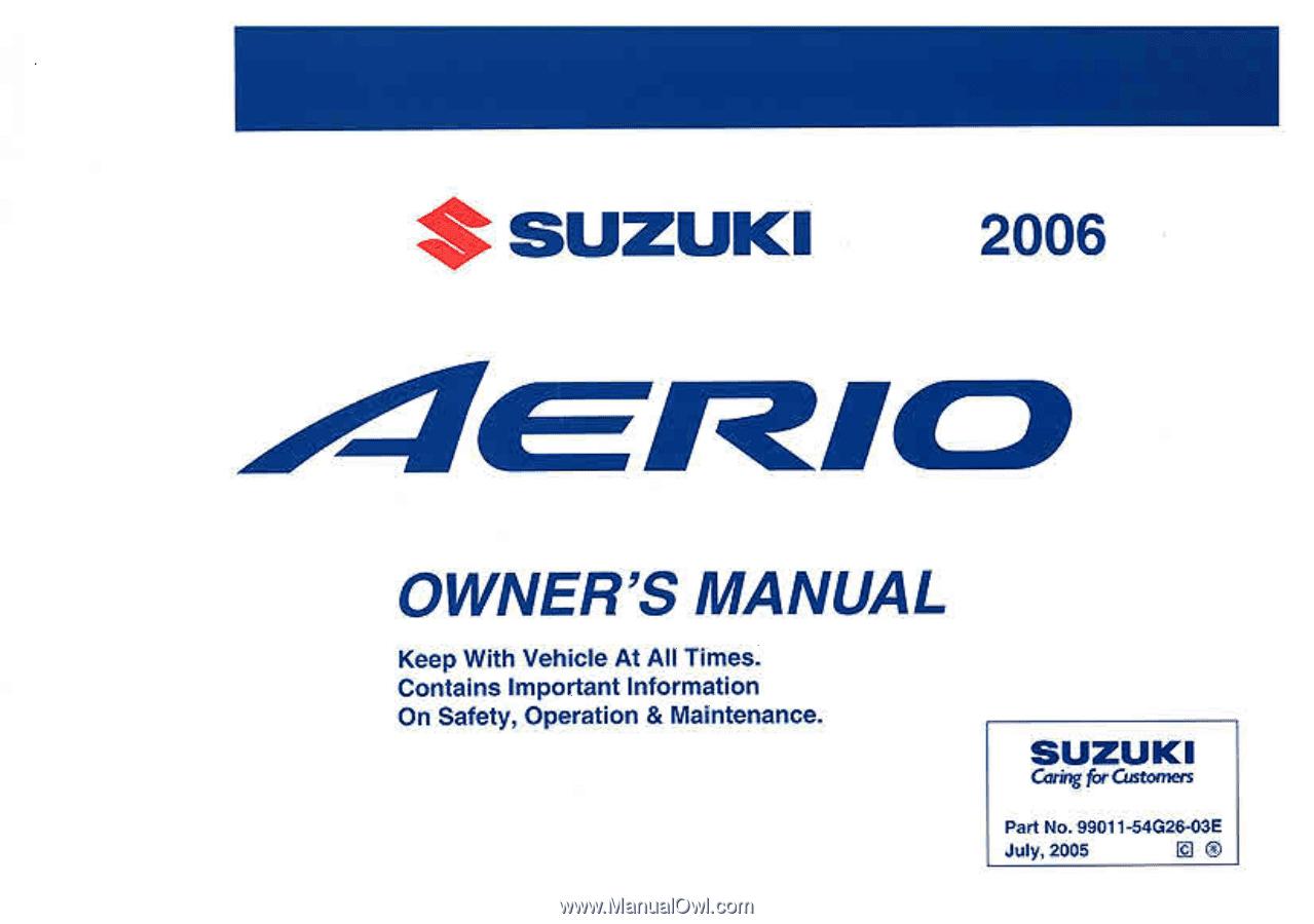2006 suzuki aerio owner s manual rh manualowl com suzuki aerio manual  transmission fluid change suzuki aerio manual book