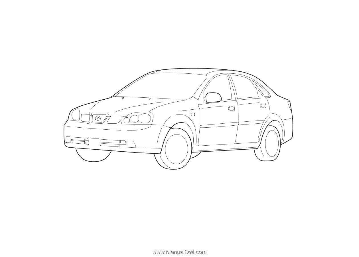 This owner's manual applies to the FORENZA series: