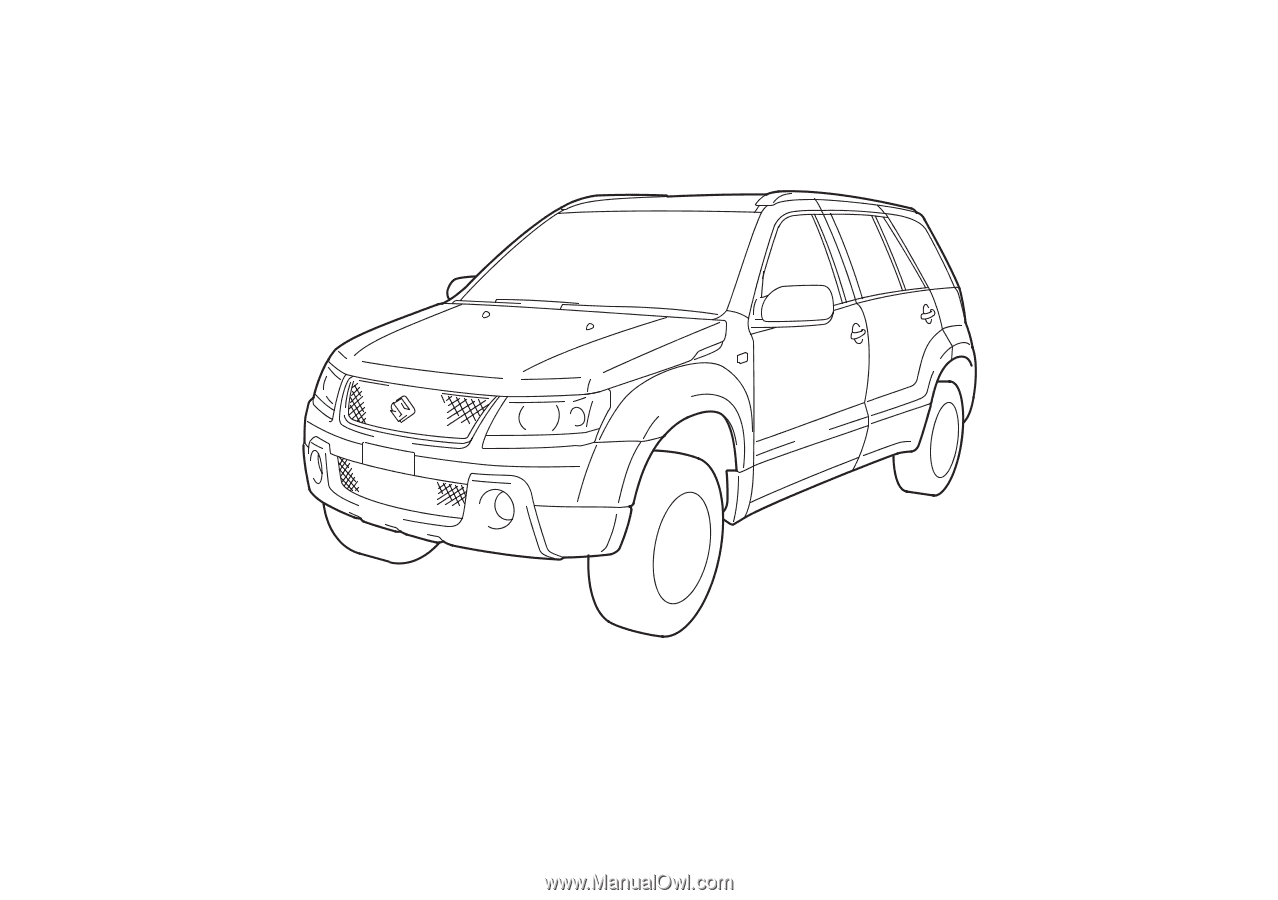 2008. This owner's manual applies to the GRAND VITARA series: