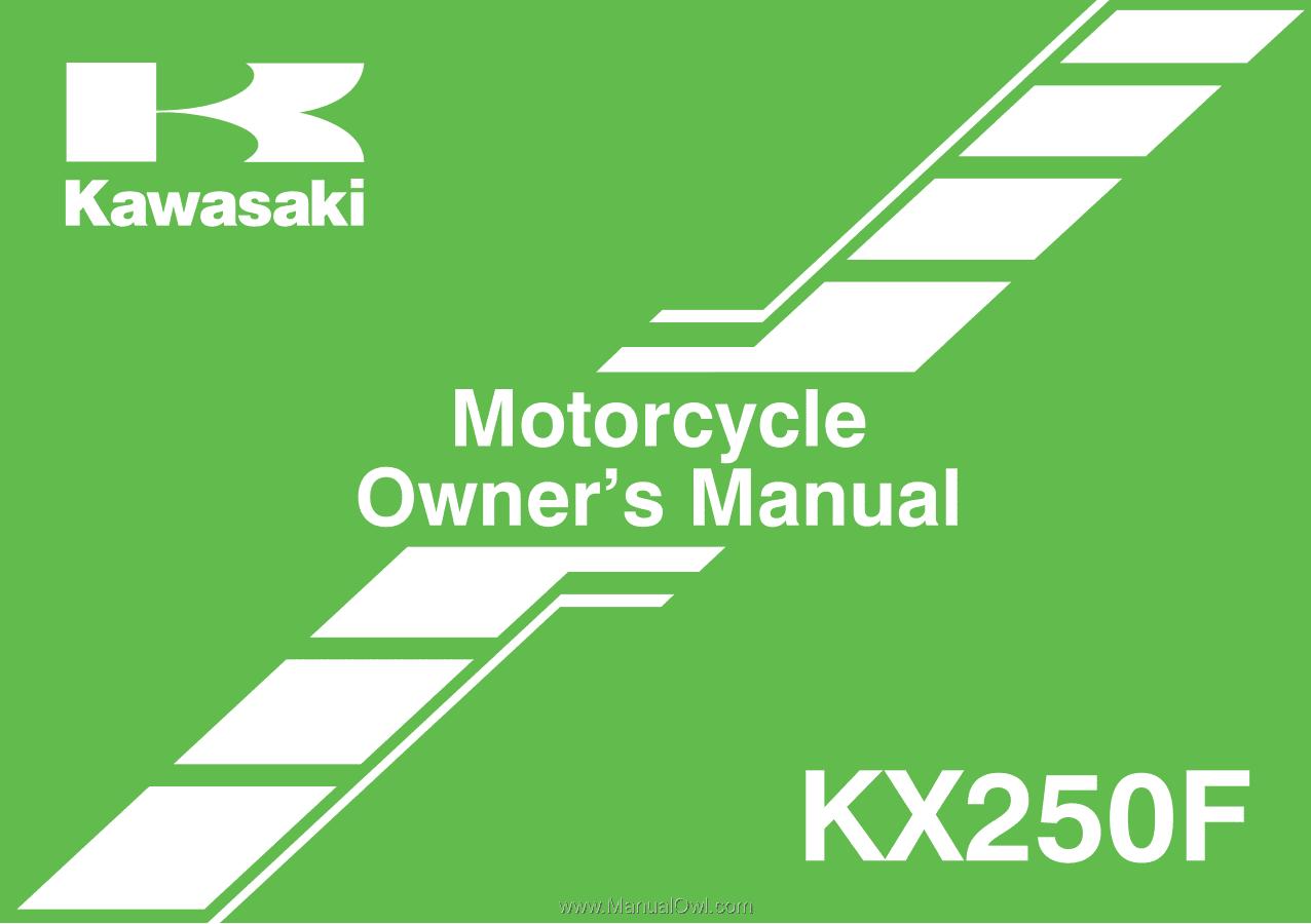 2012 Kawasaki KX250F | Owners Manual on