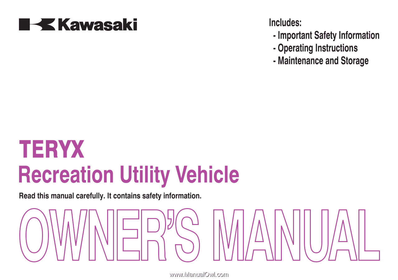 2014 Kawasaki Teryx Le Owners Manual 2013 Wiring Diagram Quick Reference Guide