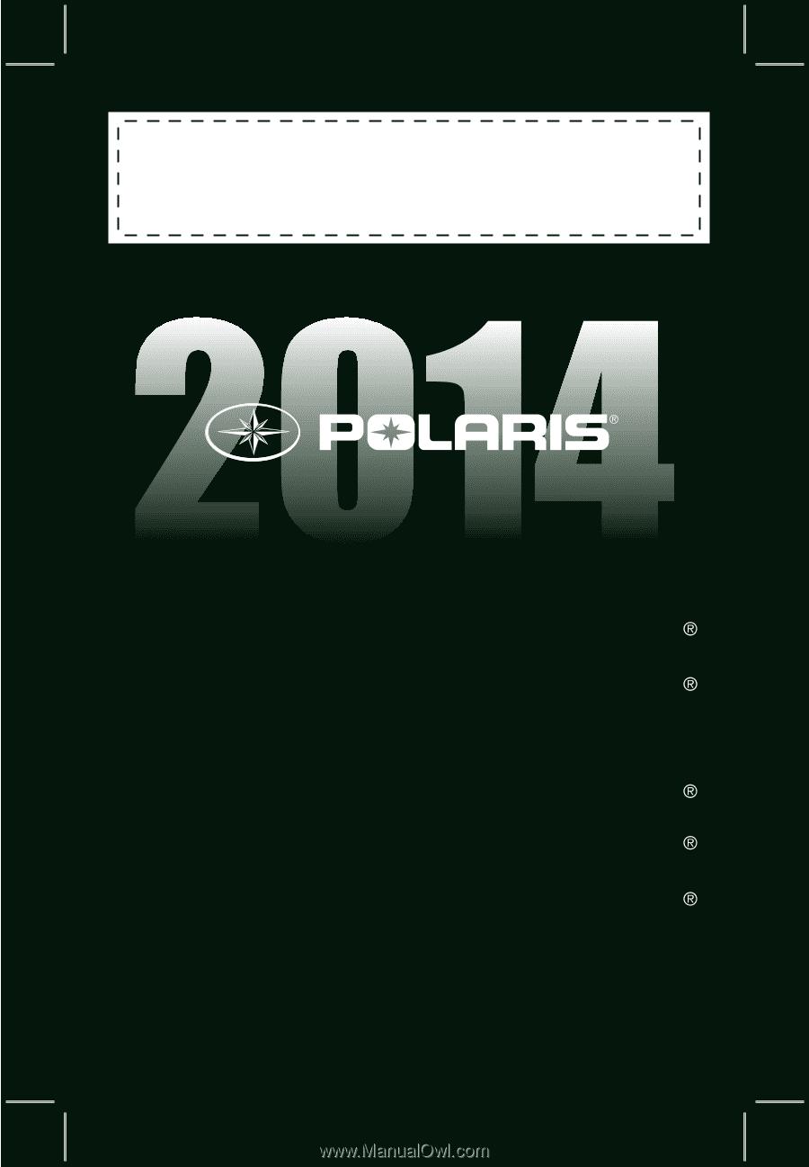 Polaris 2014 800 Pro RMK 155 Service Manual