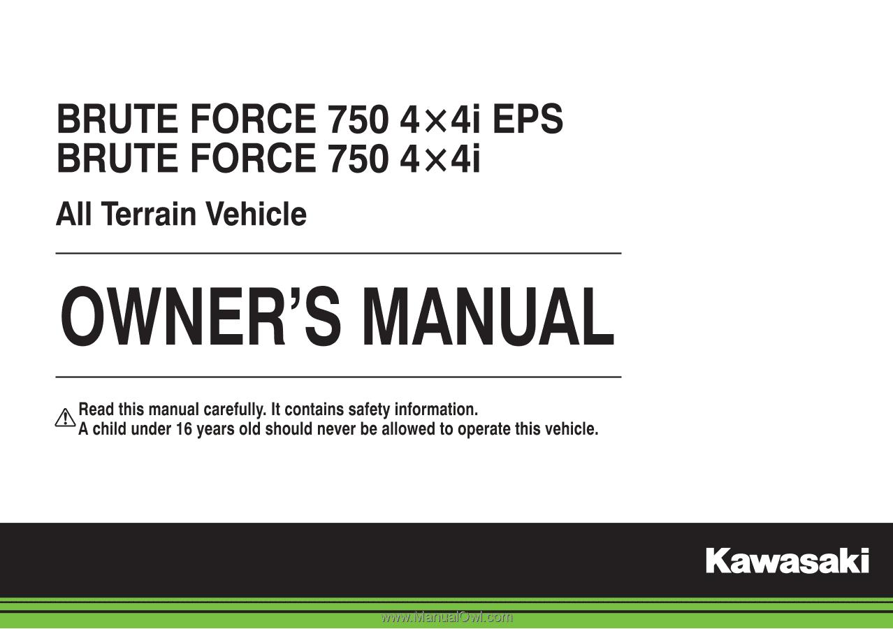 Kawasaki Brute Force Owners Manual