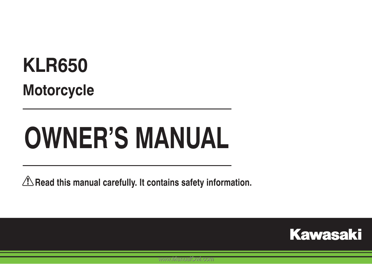 2015 Kawasaki Klr650 Owners Manual Wiring Diagram Quick Reference Guide