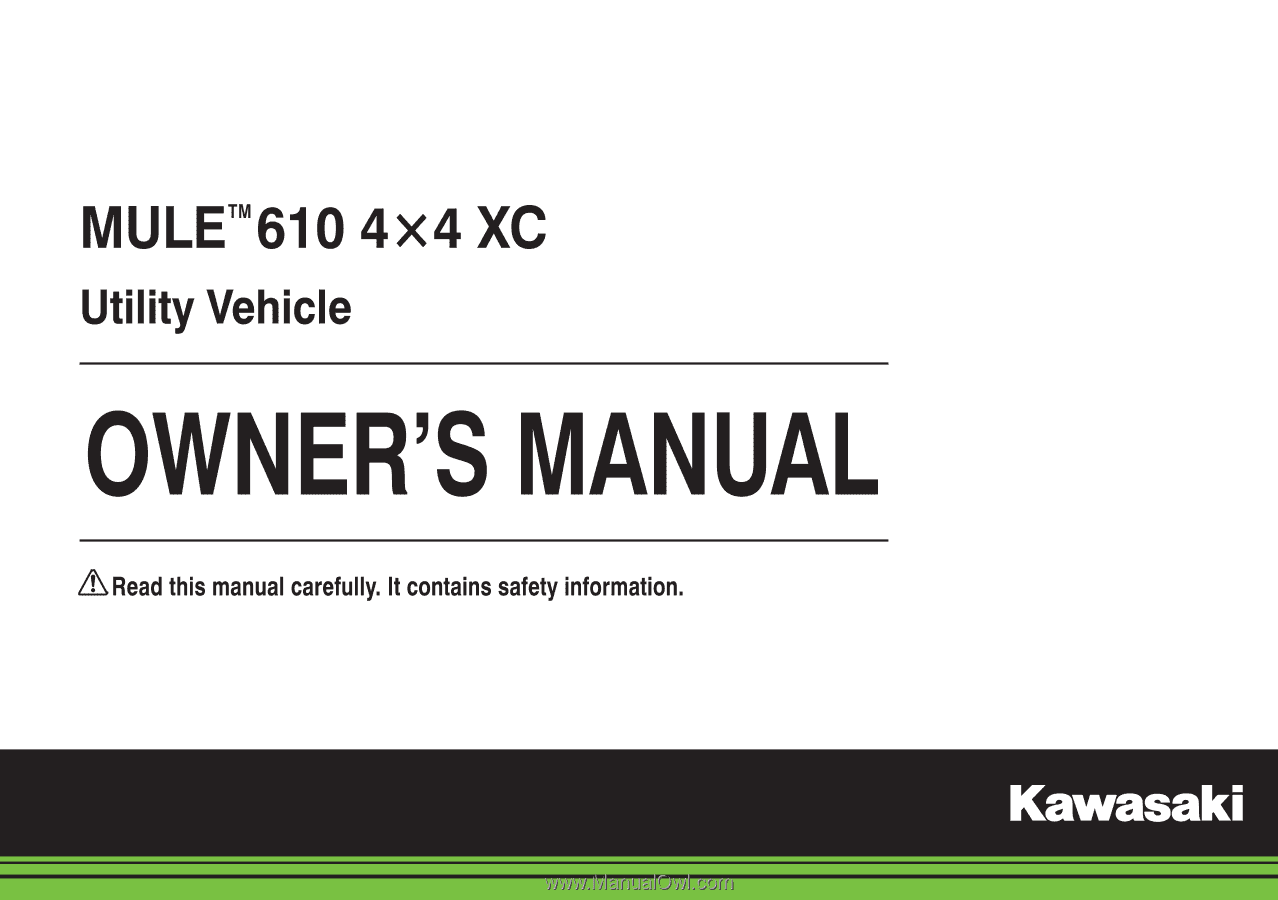 2015 kawasaki mule 610 4x4 xc se owners manual. Black Bedroom Furniture Sets. Home Design Ideas