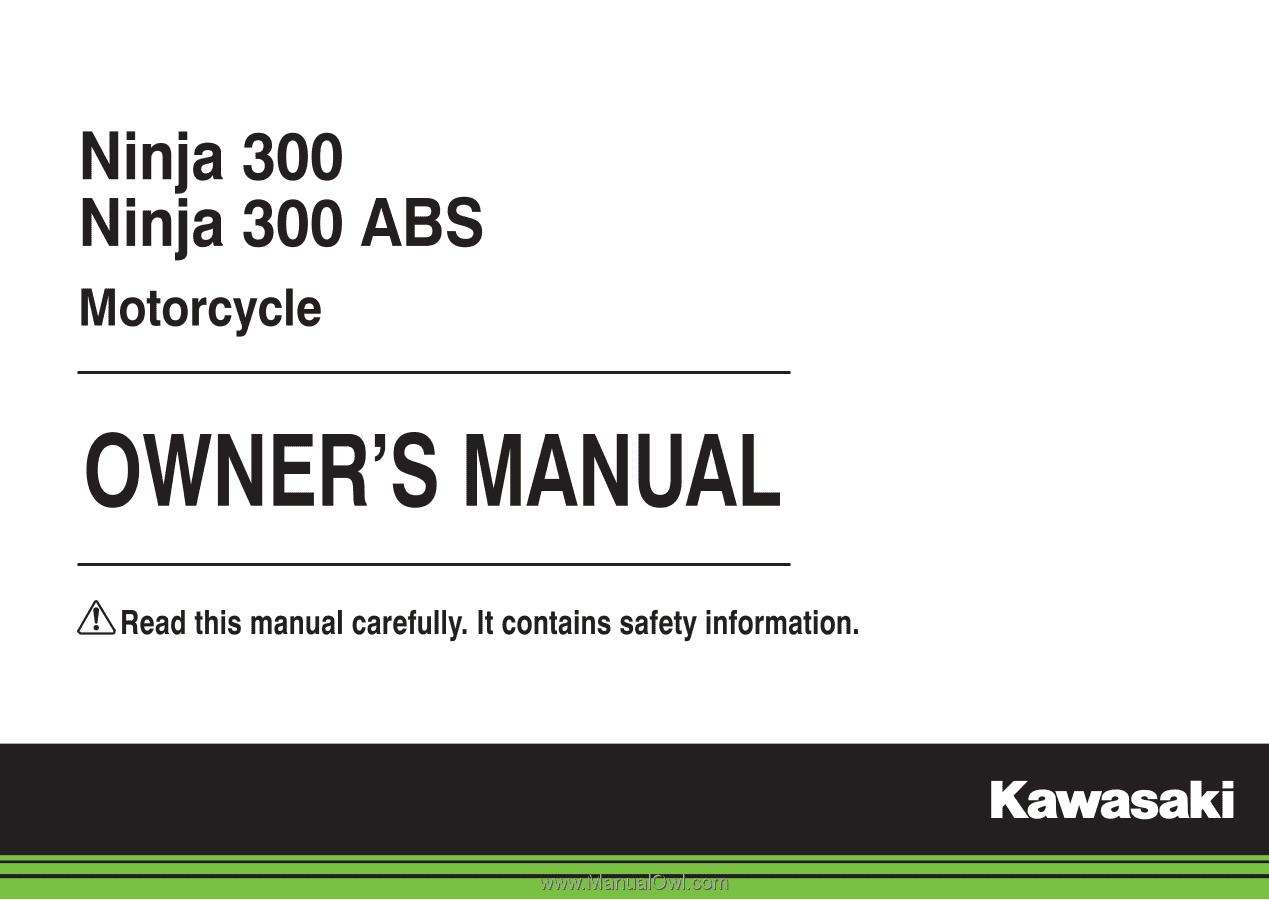2015 kawasaki ninja 300 abs owners manual rh manualowl com ninja 300 owners manual pdf kawasaki ninja 300 owner manual