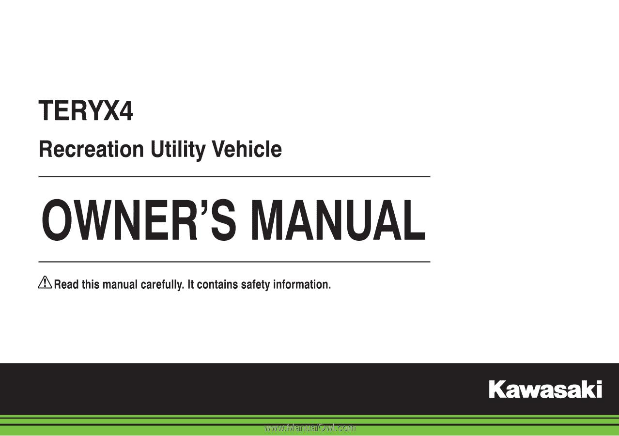 2015 Kawasaki Teryx4 Owners Manual 2014 Teryx Wiring Diagram Quick Reference Guide