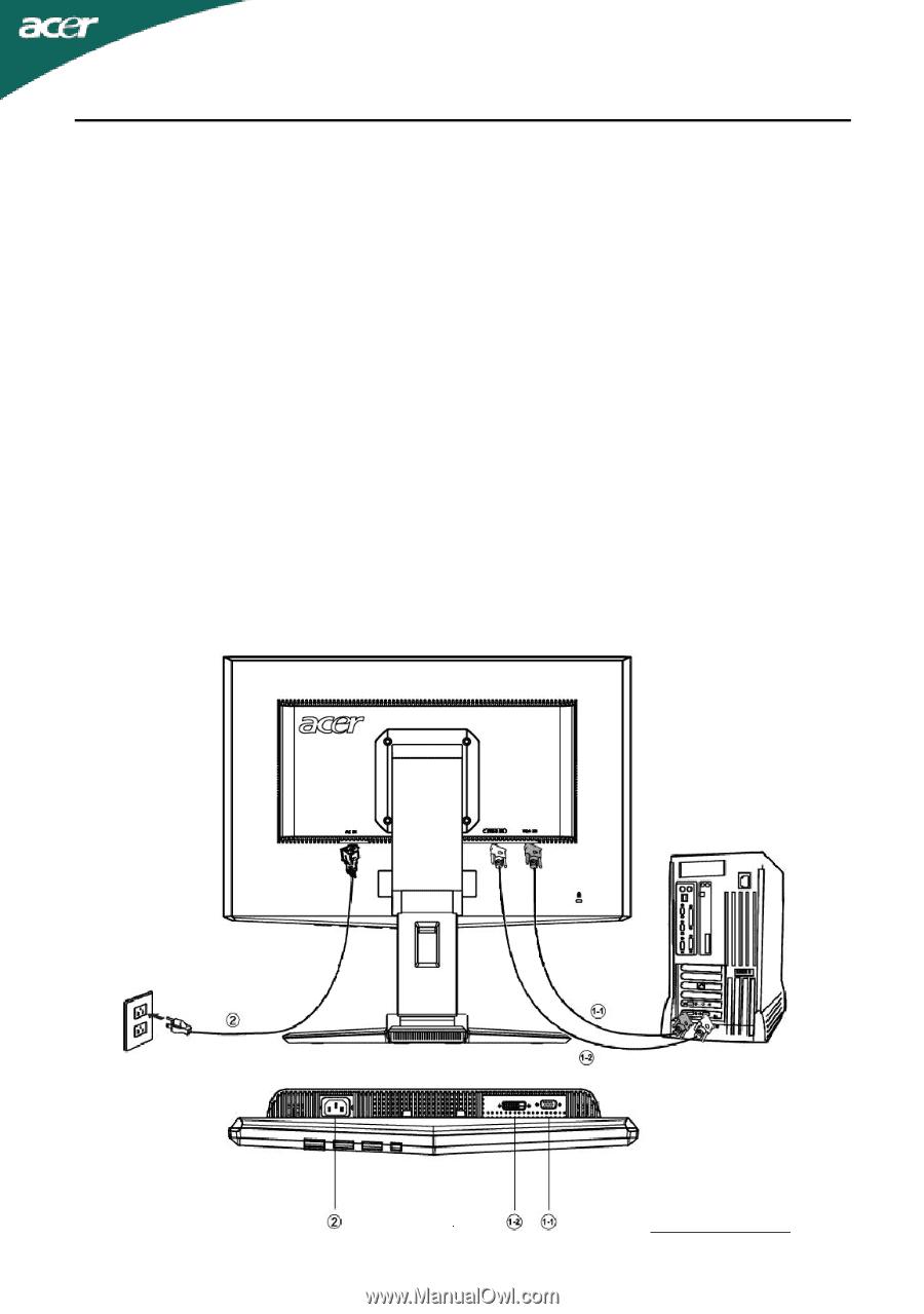 acer x223w user manual page 21 rh manualowl com acer monitor x223w manual acer x223w user manual
