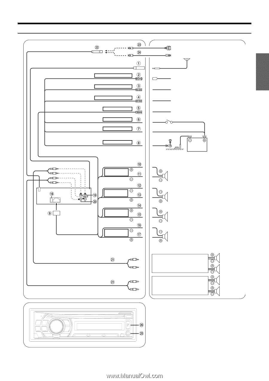 Alpine Cde 102 Wiring Diagram Building A 121 Owners Manual English Page 27 Stereo