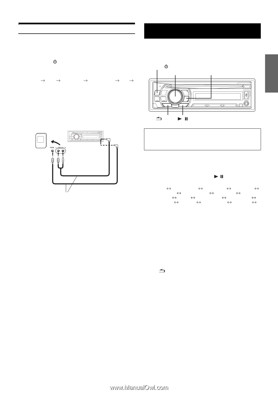 Alpine CDE-103BT | Cde-103bt Owner's Manual (english) - Page 9