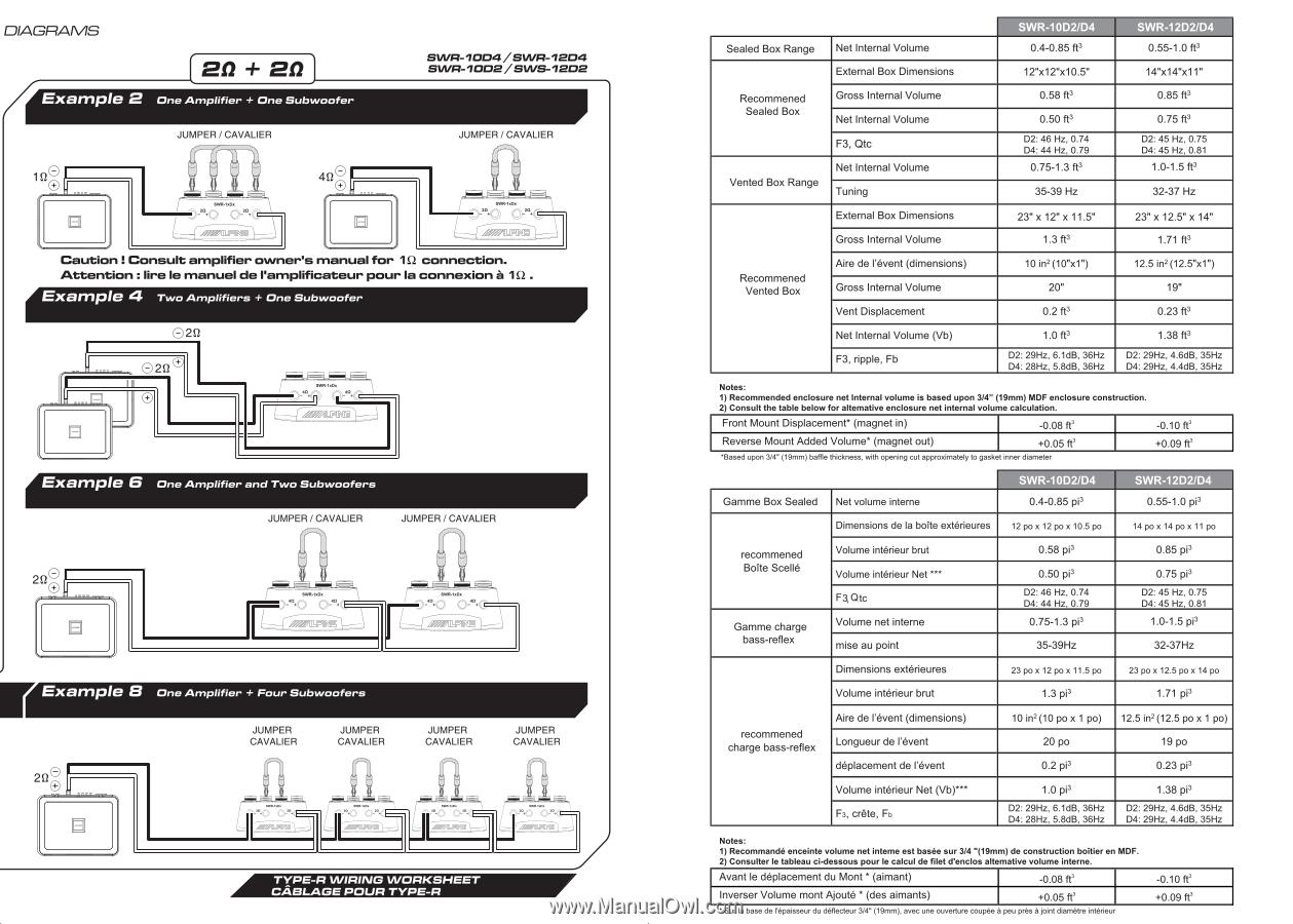 [ZTBE_9966]  Alpine SWR-12D2 | Owner's Manual (swr-10d4, Swr-10d2, Swr-12d4, Swr-d2) | Alpine Swr 12d2 Wiring Diagram |  | Manual Owl