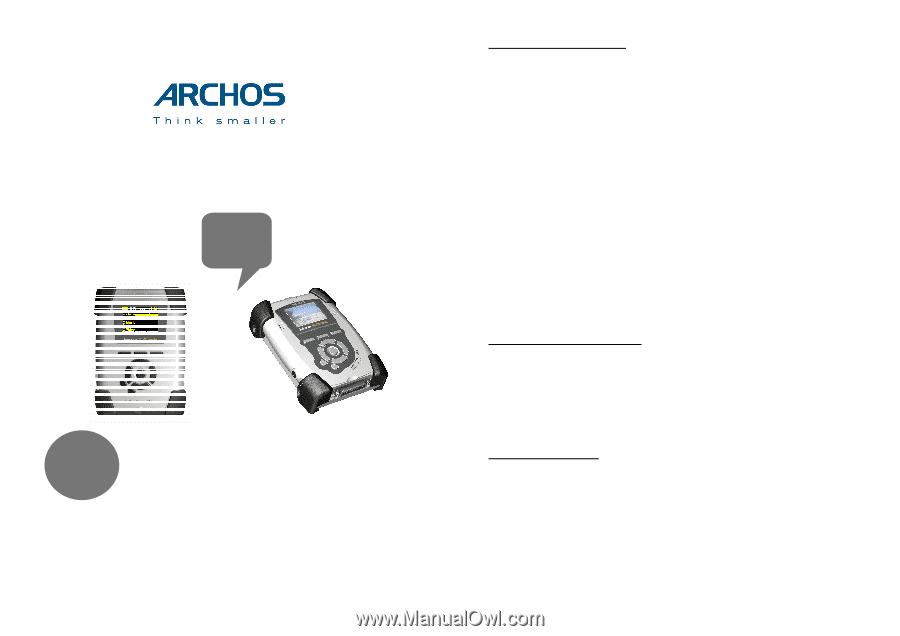 archos av120 user guide rh manualowl com  Camcorder Remote Control