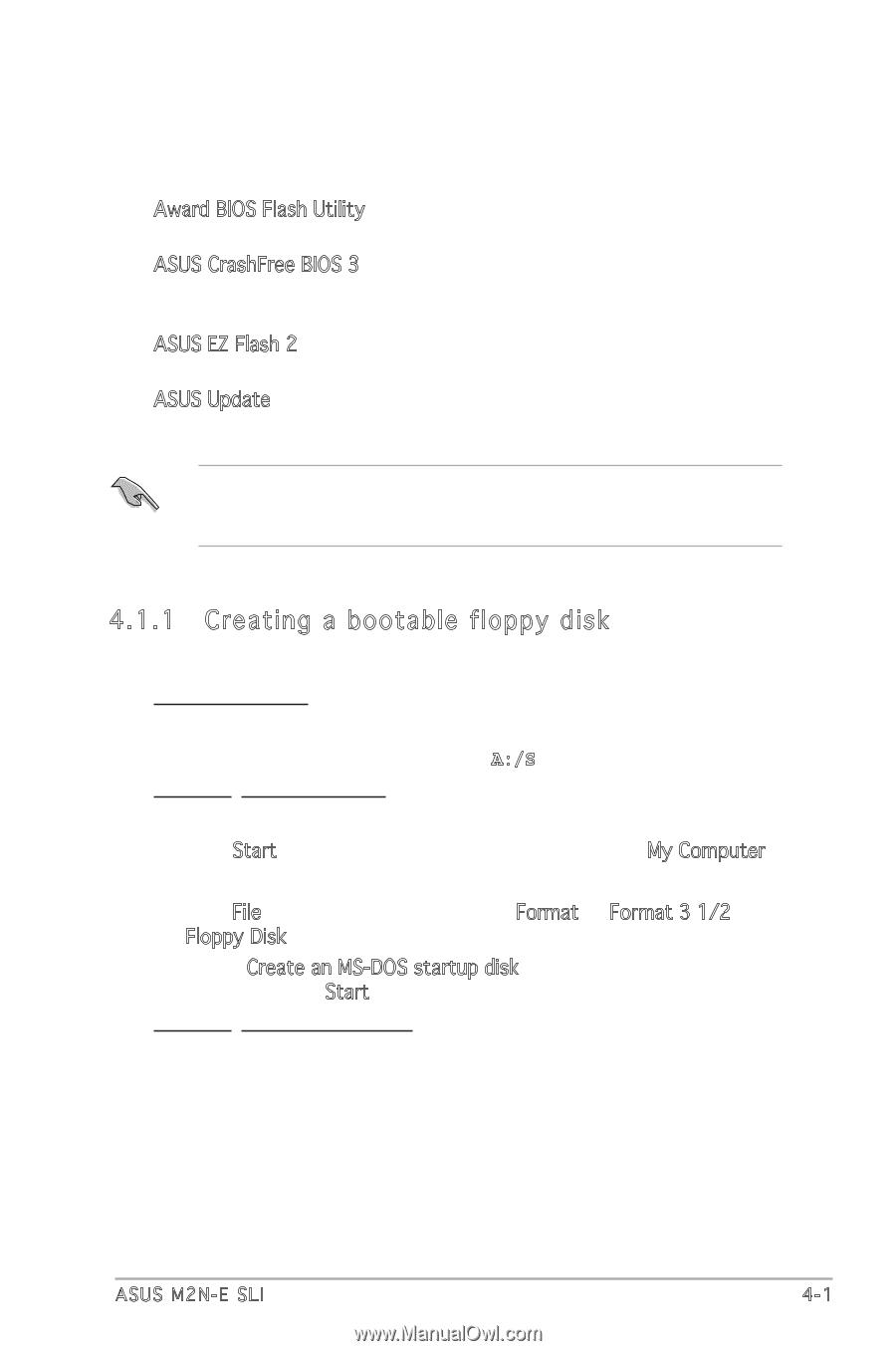 Asus M2N-E SLI   M2N-E SLI English Edition User''s Manual