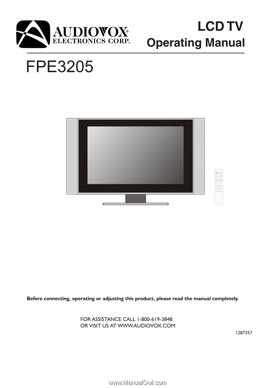 audiovox fpe3205 operation manual rh manualowl com Kitchen Under Cabinet TV DVD Combo Polaroid Undercounter TVs for Kitchen