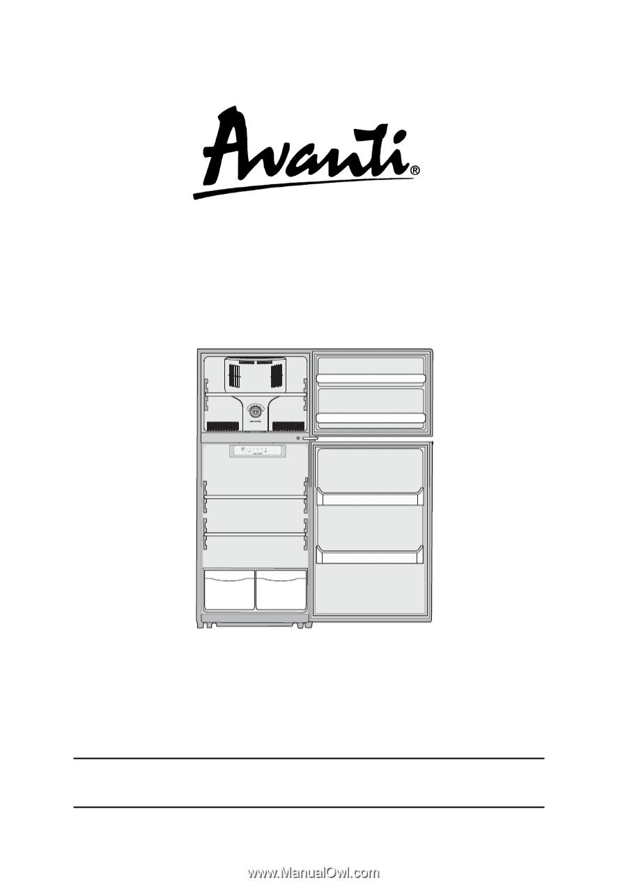 Avanti Ff990wd Instruction Manual Refrigerator Wiring Diagram
