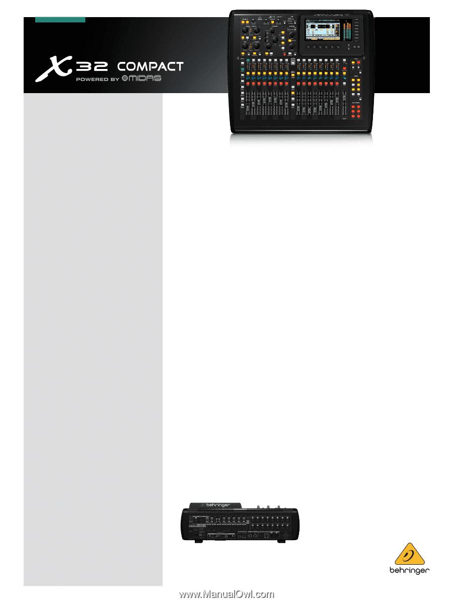 behringer x32 compact brochure. Black Bedroom Furniture Sets. Home Design Ideas