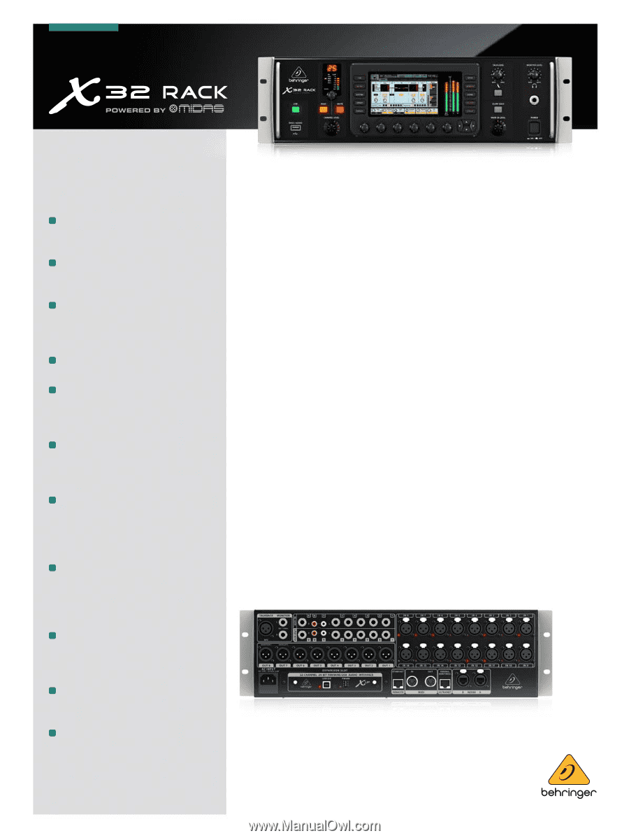 behringer x32 user manual pdf