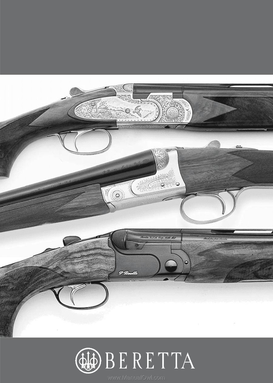 Beretta owner's manual for shotgun o/u and s/s.