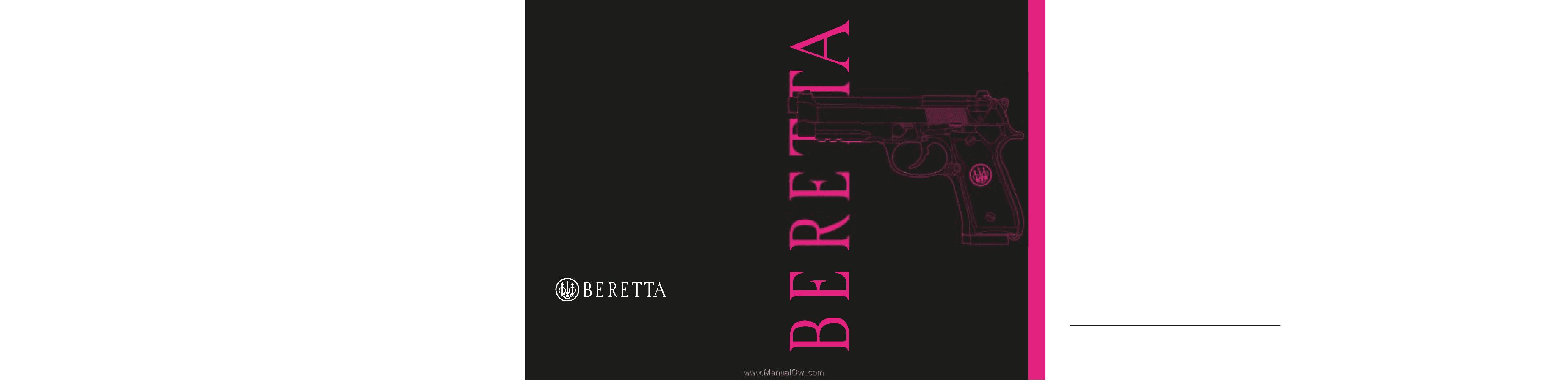 Beretta 92A1 | Beretta 92A1 & 96A1 User Manual