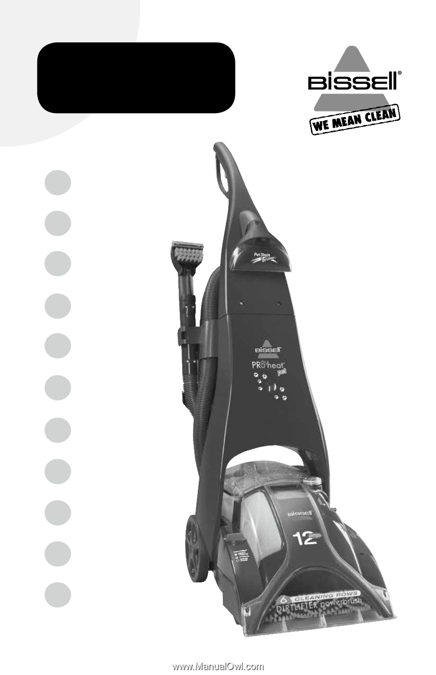 Bissell Proheat Pet Upright Carpet Cleaner 89108 Manual Guide