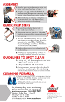 bissell spot clean instructions