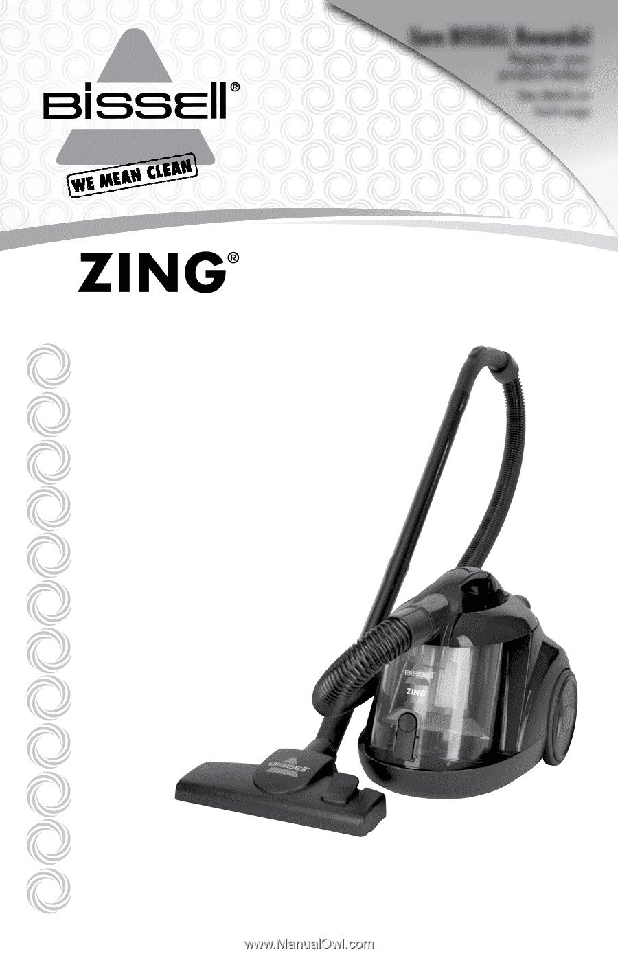 Bissell Zing Bagless Canister Vacuum Zing 174 User S Guide