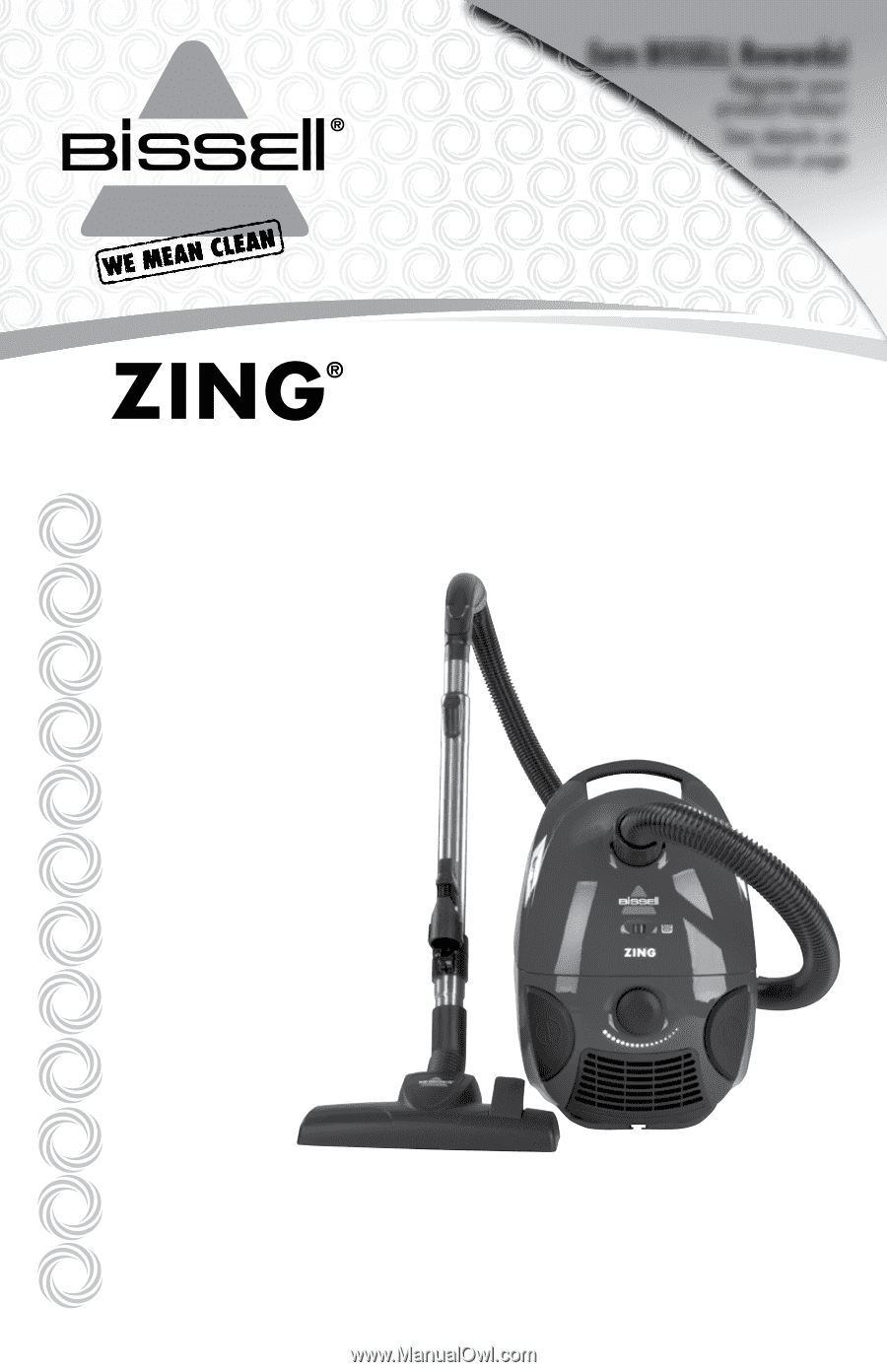 Bissell Zing 174 Bagged Canister Vacuum 4122 User Guide