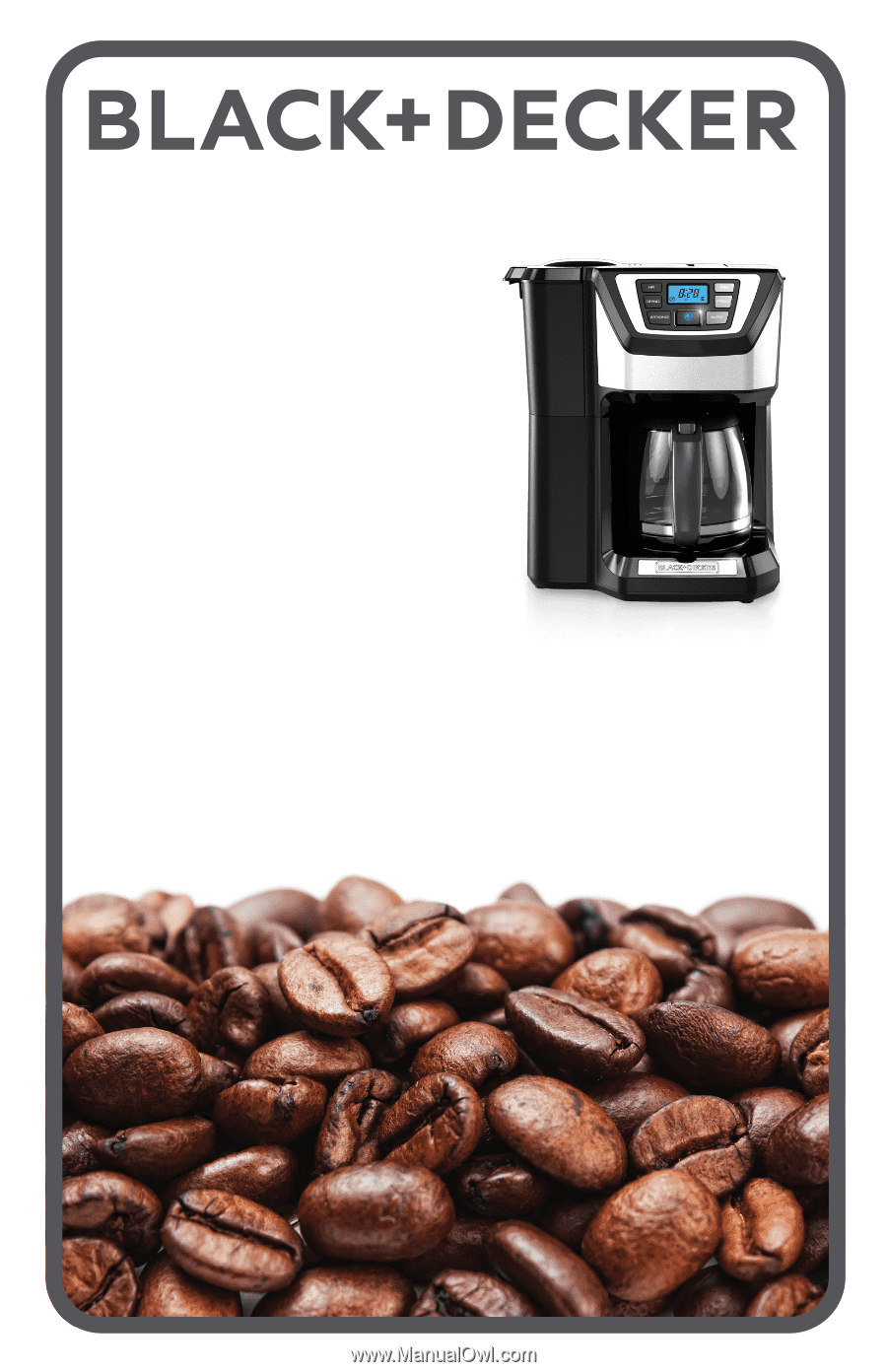 1 Black And Decker  Cup Programmable Coffee Maker Manual