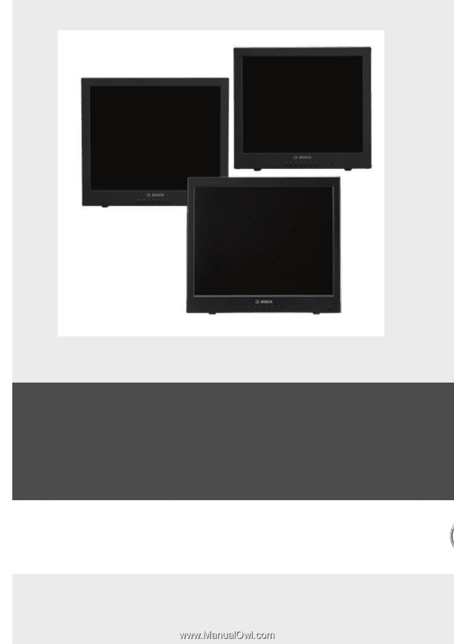 High Performance LCD Monitors