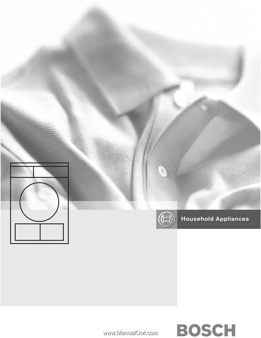 bosch axxis dryer manual pdf