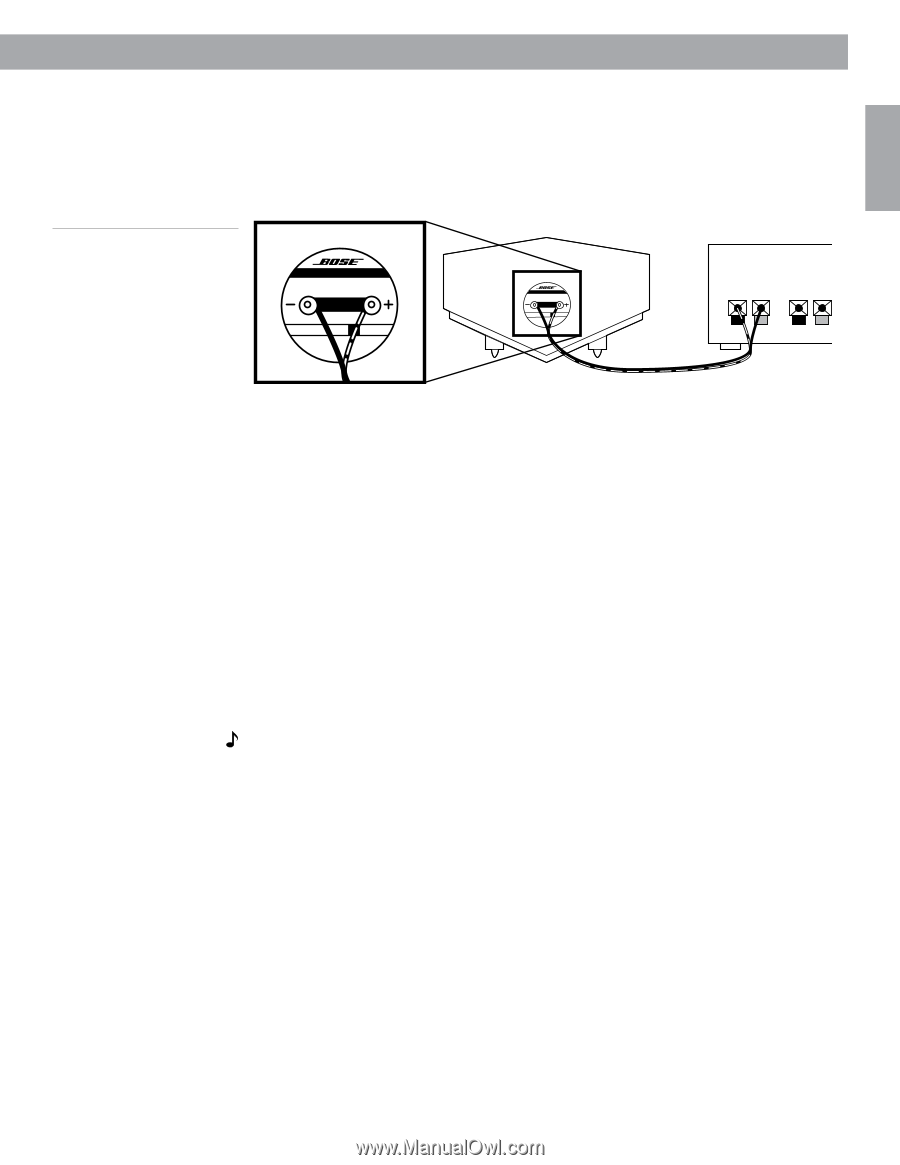 Bose 901 Series Vi Loud Owners Guide Page 11 Using Equalizer Wiring Diagram 9