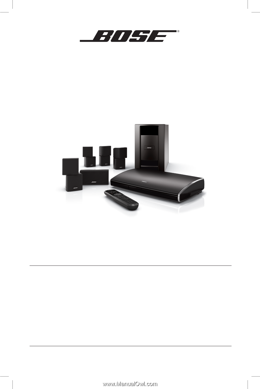 Bose Lifestyle 520 Home Theater | Installation Guide