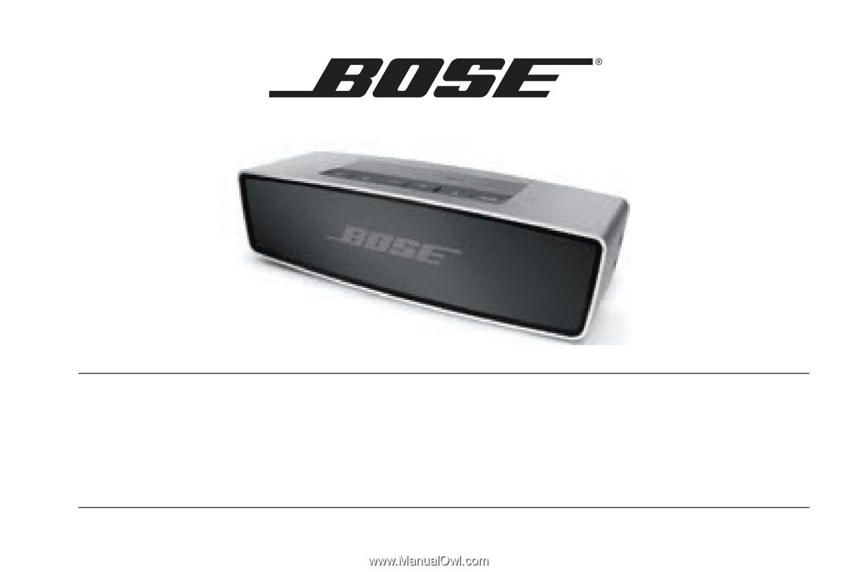 Bose SoundLink Mini Bluetooth speaker Owner's Manual ...