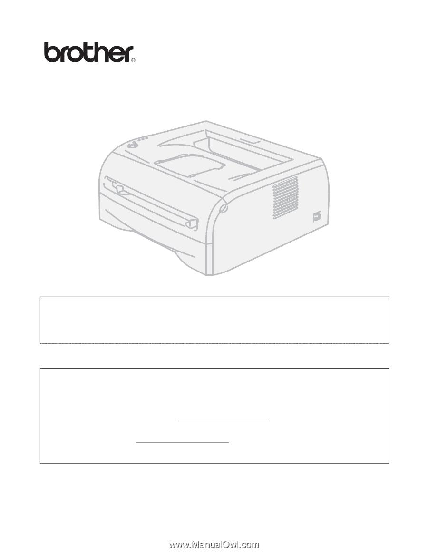 Brother hl 52 Printer Manual