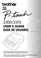 brother p touch pt 65 manual