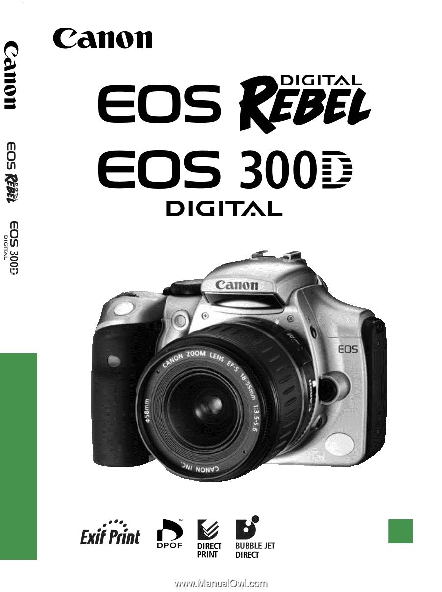 Canon Eos Rebel T2i Instruction Manual