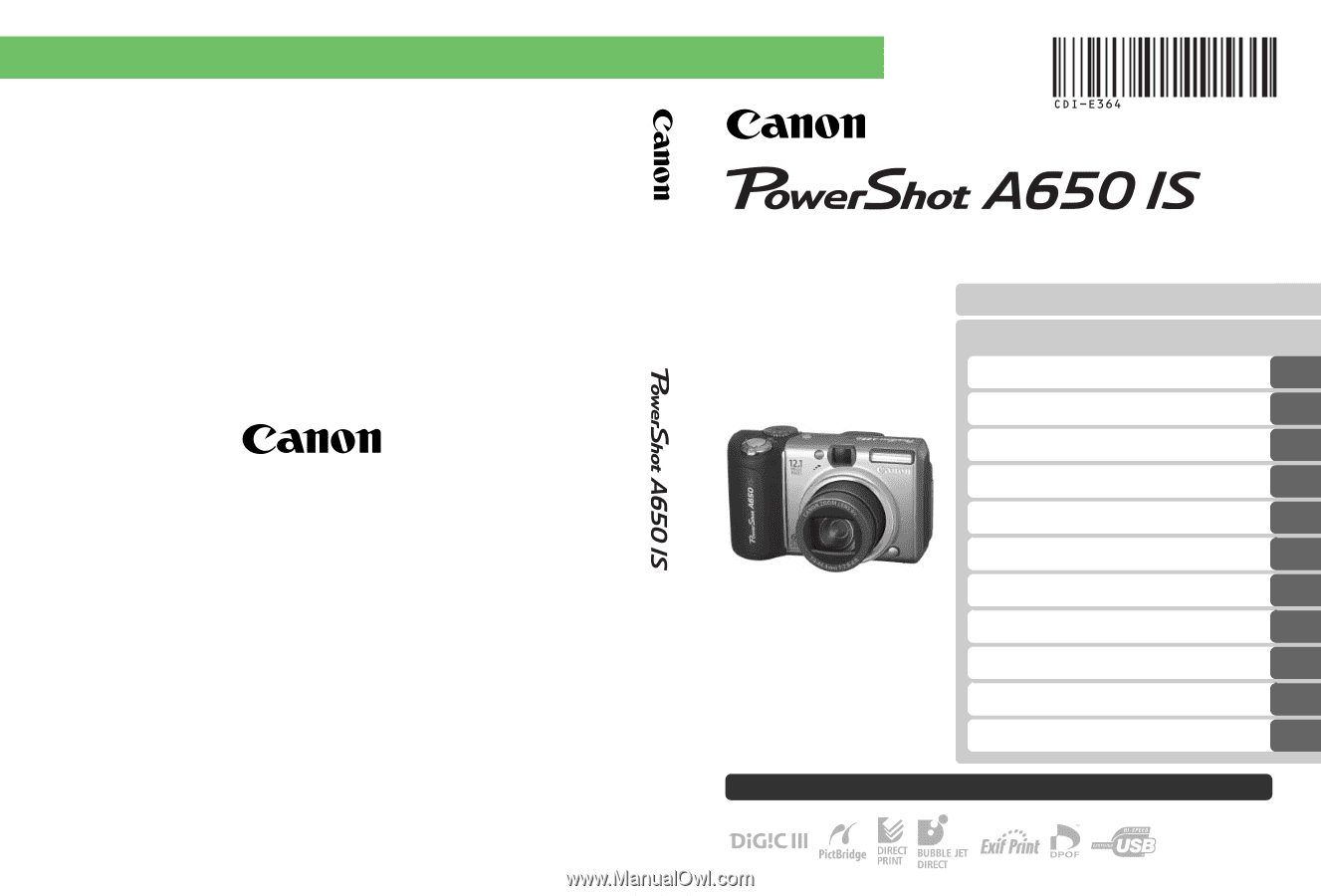 canon powershot a650 is manual pdf