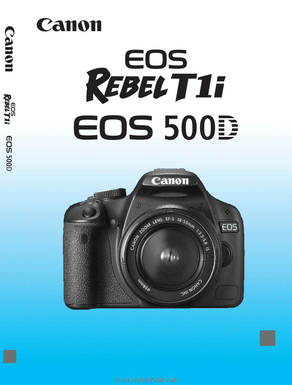 canon eos rebel t1i eos rebel t1i eos 500d instruction manual rh manualowl com
