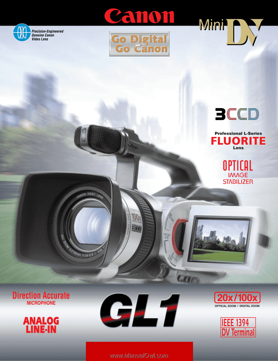 canon gl1 gl1 brochure rh manualowl com Canon Cameras Used Canon GL1