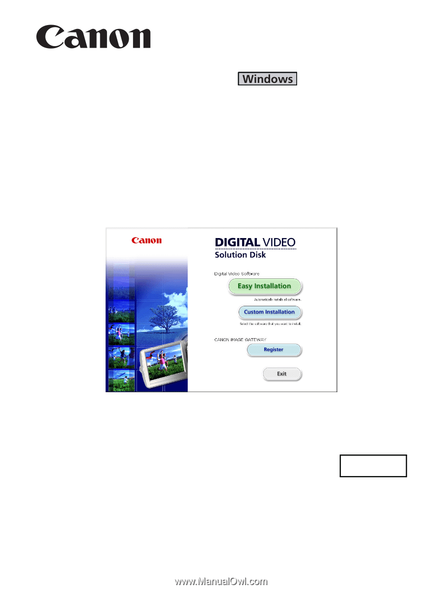 canon software instruction manual