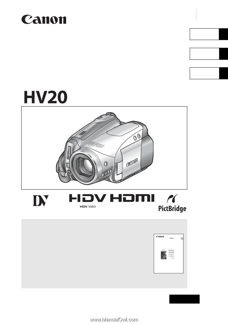 canon hv20 hv20 instruction manual rh manualowl com User Manual Template Instruction Manual Example