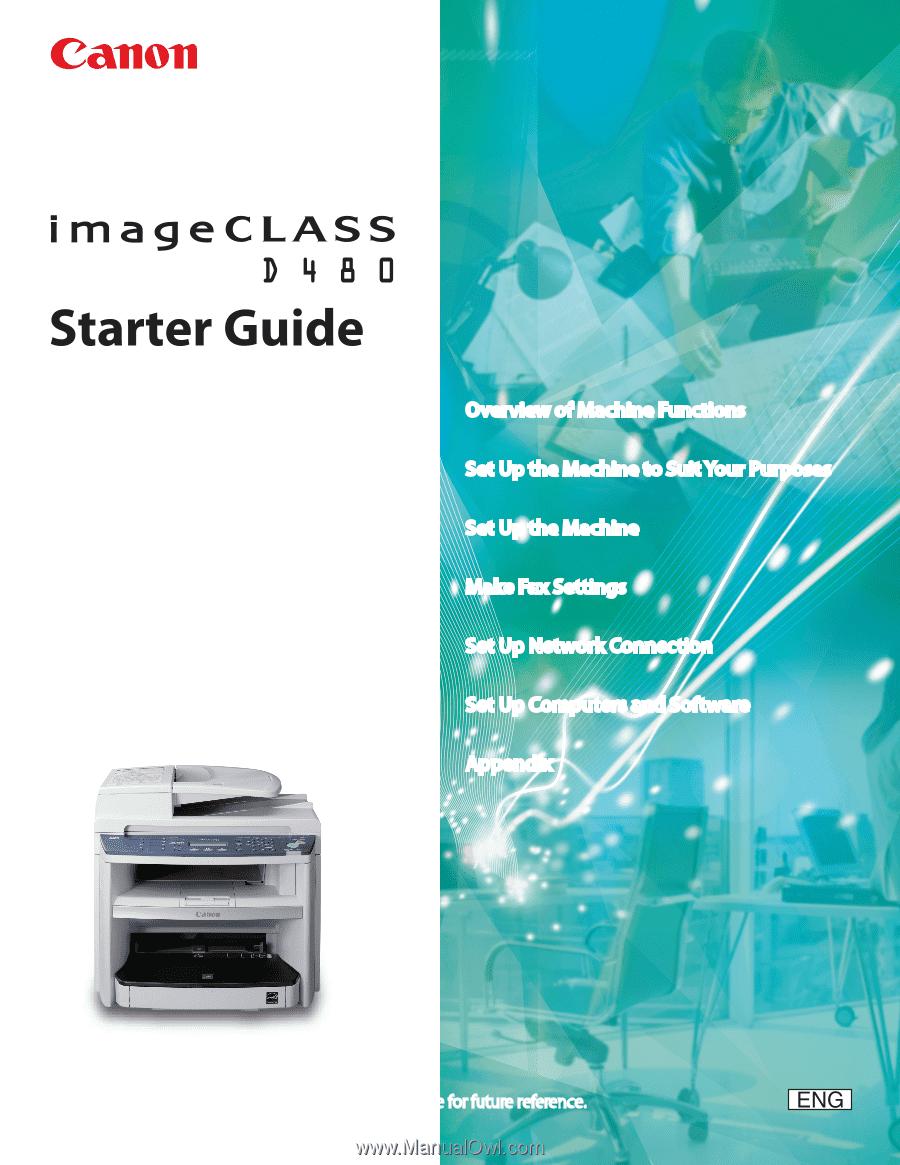 canon imageclass d480 imageclass d480 starter guide rh manualowl com Canon Copiers and Printers Canon Office Copiers