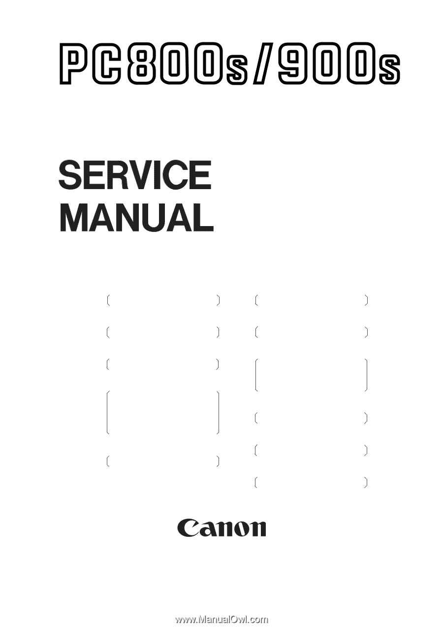 Canon Pc921 Service Manual D010 Led Driver Wiring Diagram