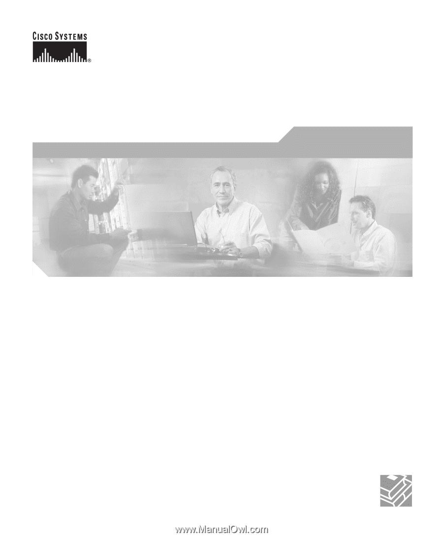 Cisco 800 series manual