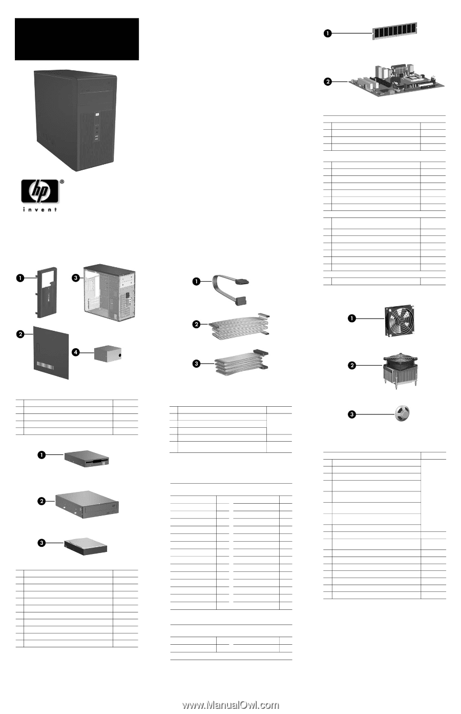 Compaq dx2200   HP Compaq Business Desktop dx2200 Microtower - Illustrated  Parts - Page 2