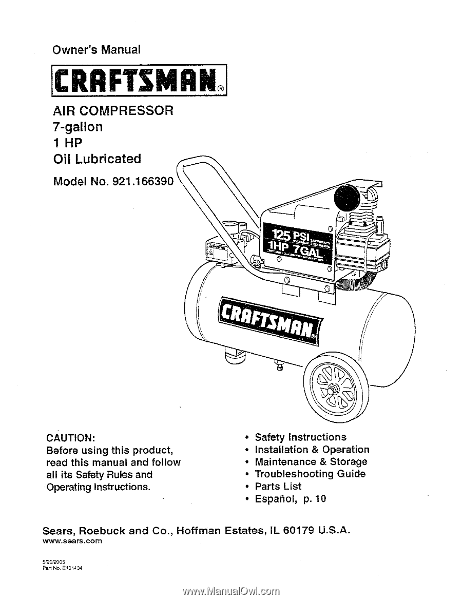 16639 Craftsman Air Compressor Wiring Wire Data Schema Rj45 Connector Diagram Group Picture Image By Tag Keywordpictures Owners Manual Rh Manualowl Com